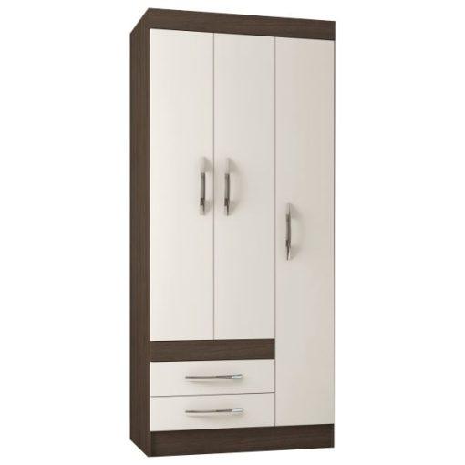 Ropero Poliman Recife 3 puertas - Almendra-Blanco - Electrojet Electrodomésticos